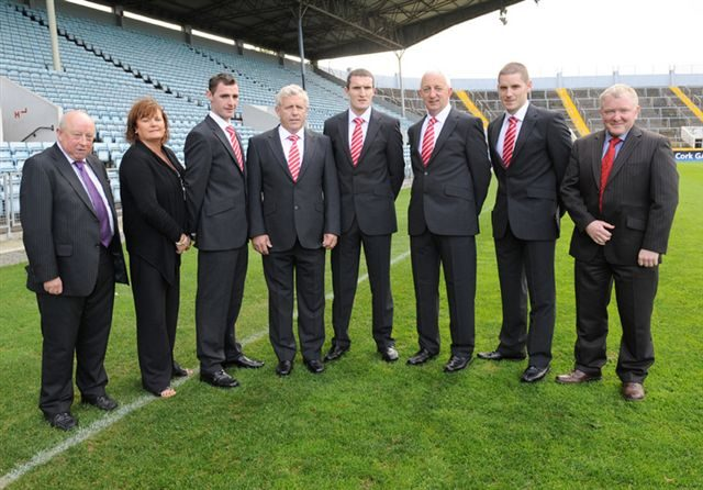 All Ireland Champions Cork receiving their Outfits prior to the final in 2010