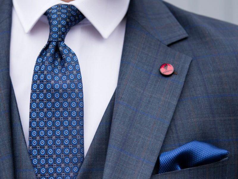 Bonn Check Navy Wedding Suit €289