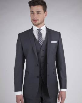 Charcoal Rental Suit 3 - - Con Murphys Menswear