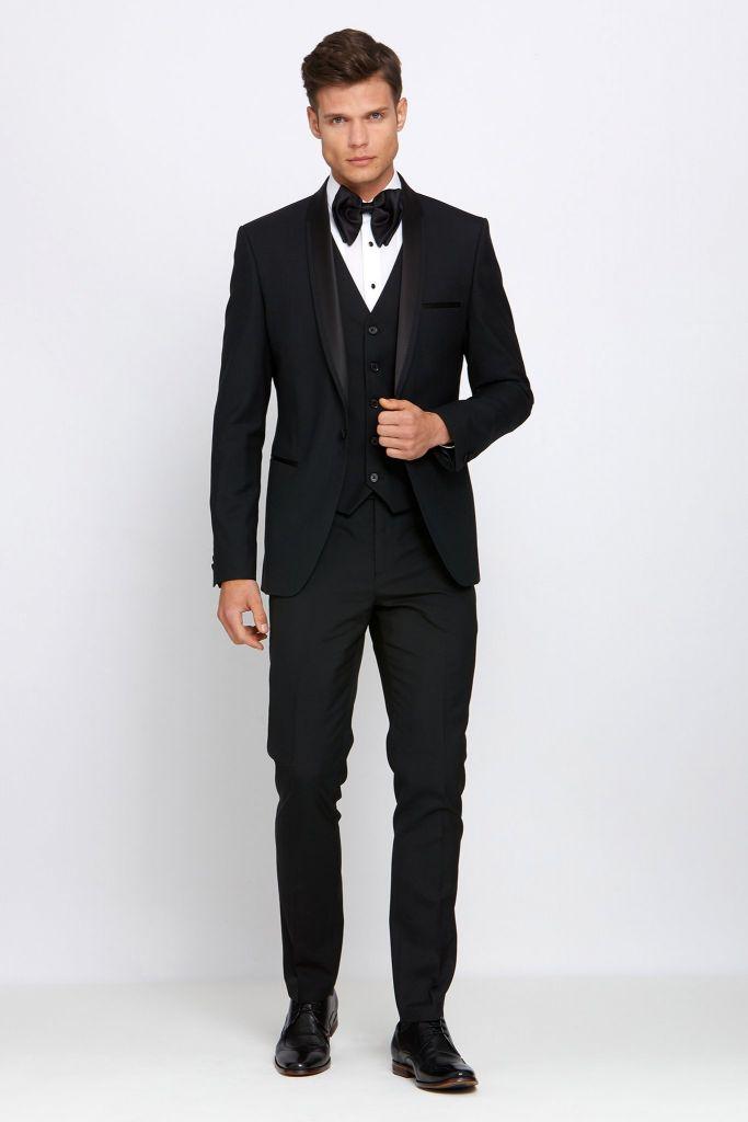 Shawl Collar Black Tux - Suit Hire - Con Murphys Menswear