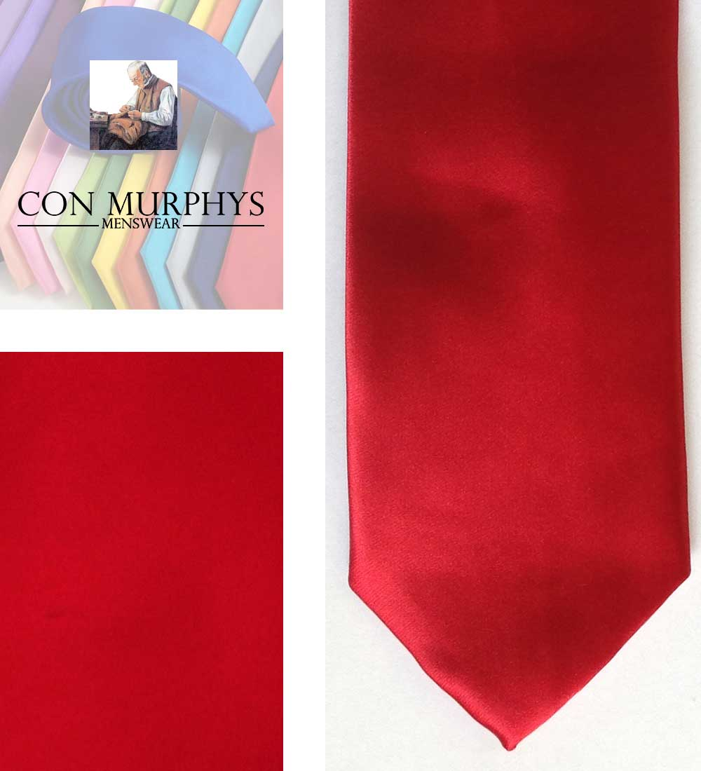 02 red mens ties cork ireland con murphys - - Con Murphys Menswear