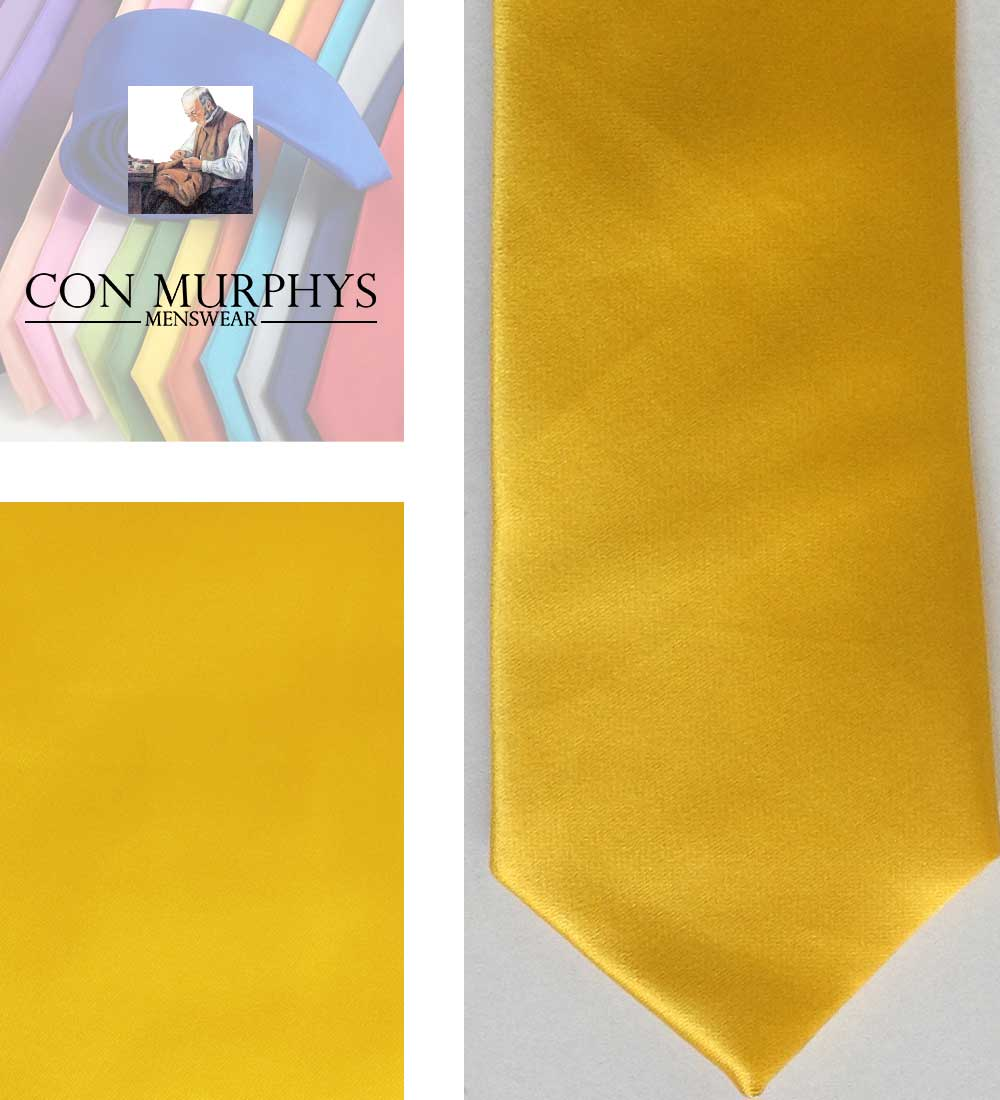 16 yellow mens ties cork ireland con murphys - - Con Murphys Menswear
