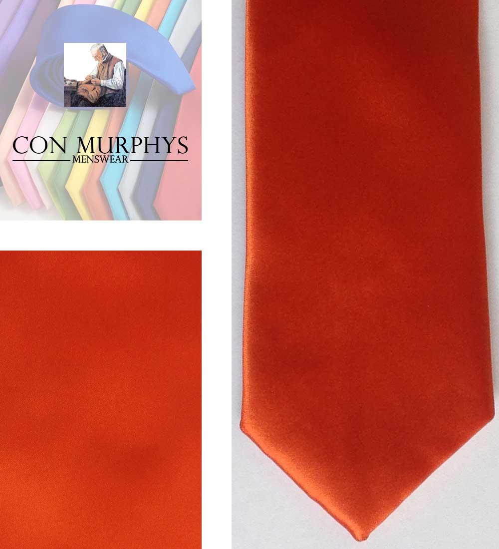 17 orange mens ties cork ireland con murphys - - Con Murphys Menswear