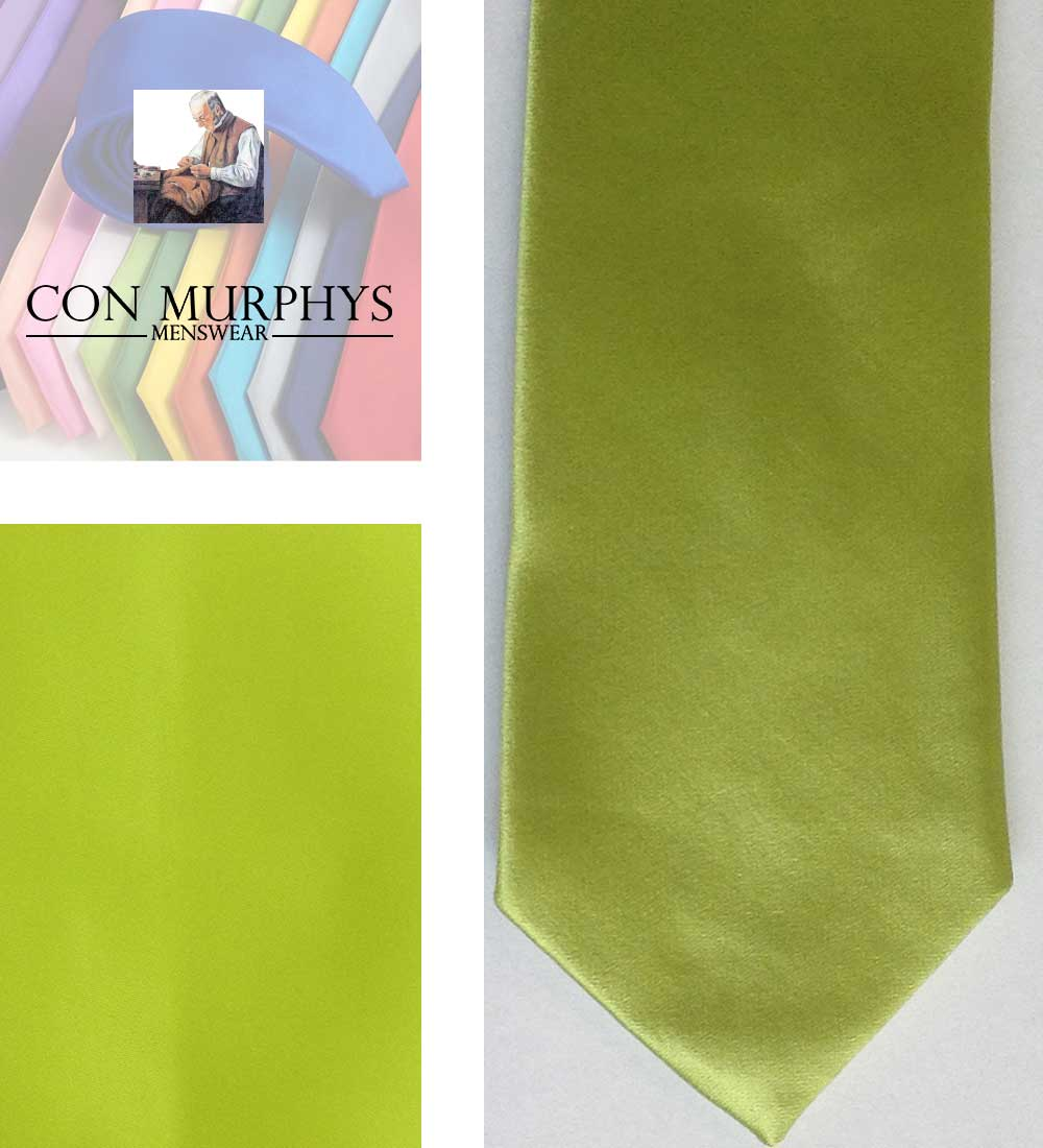 20 lime green mens ties cork ireland con murphys - - Con Murphys Menswear