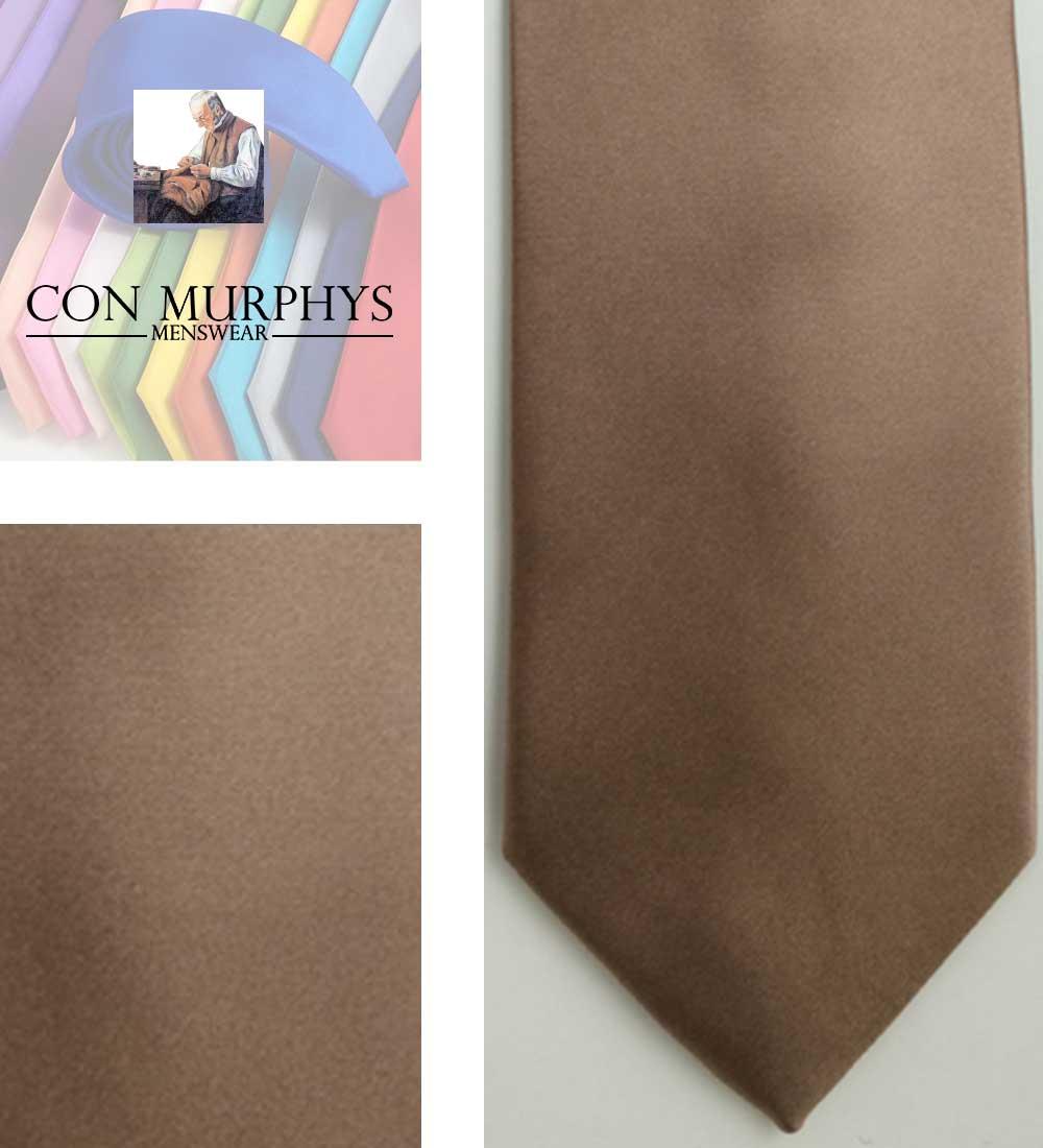 29 dark biege mens ties cork ireland con murphys - - Con Murphys Menswear