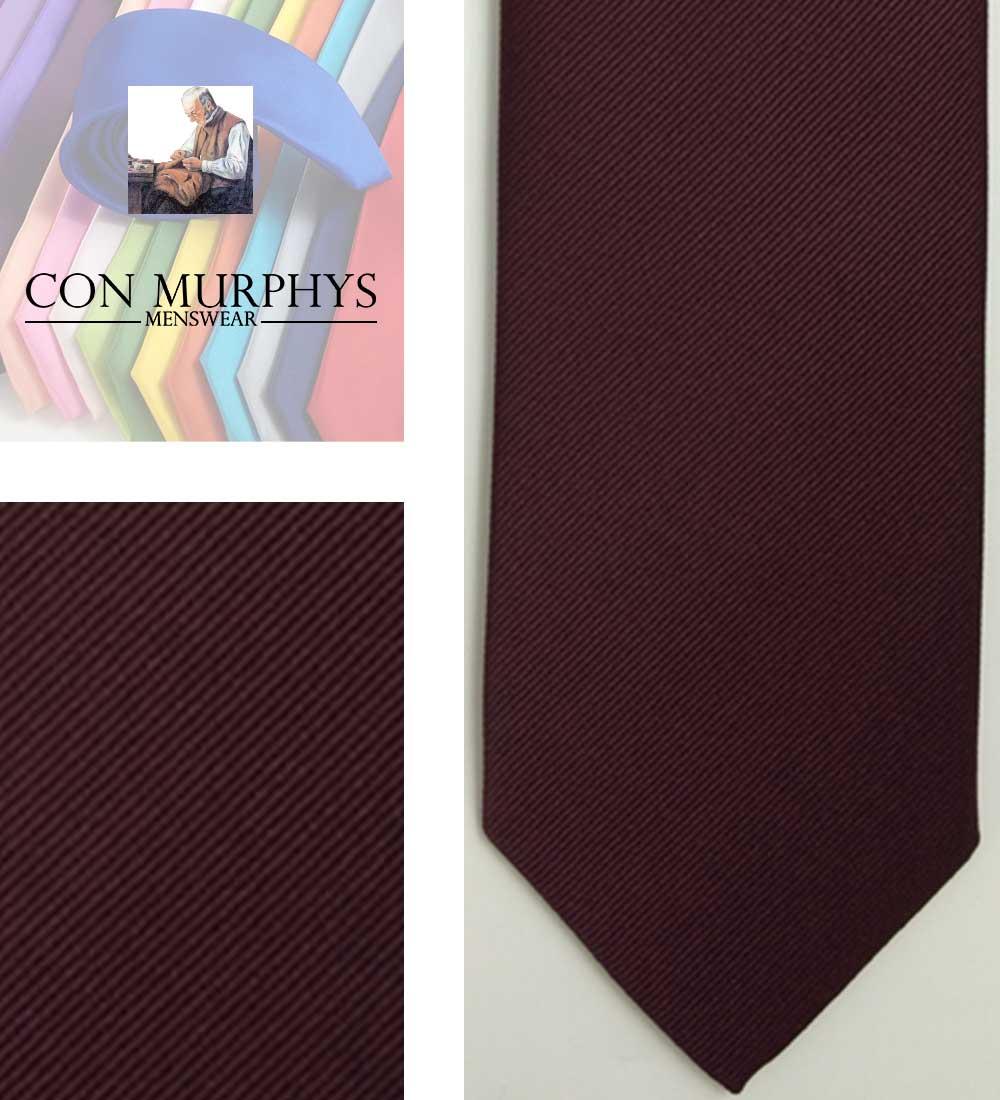 31 dark burgundy mens ties cork ireland con murphys - - Con Murphys Menswear