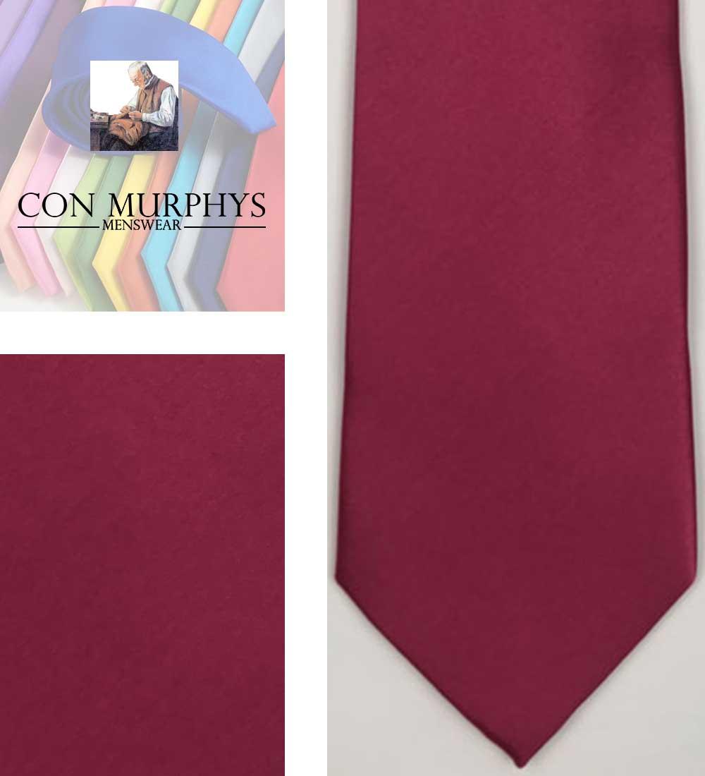 45 Raspberry TIE mens ties cork ireland con murphys - - Con Murphys Menswear
