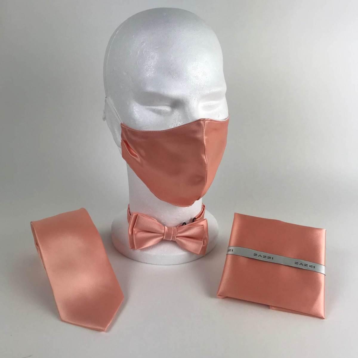 B1764 19 Peach FM. mens ties facemasks con murphys menswear cork scaled - - Con Murphys Menswear
