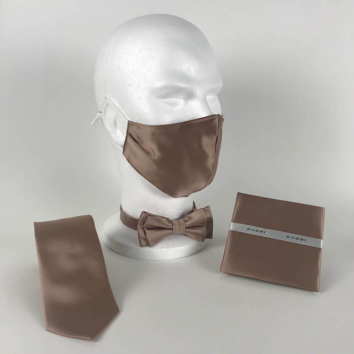 B1764 29 Beige FM. mens ties facemasks con murphys menswear cork scaled - - Con Murphys Menswear