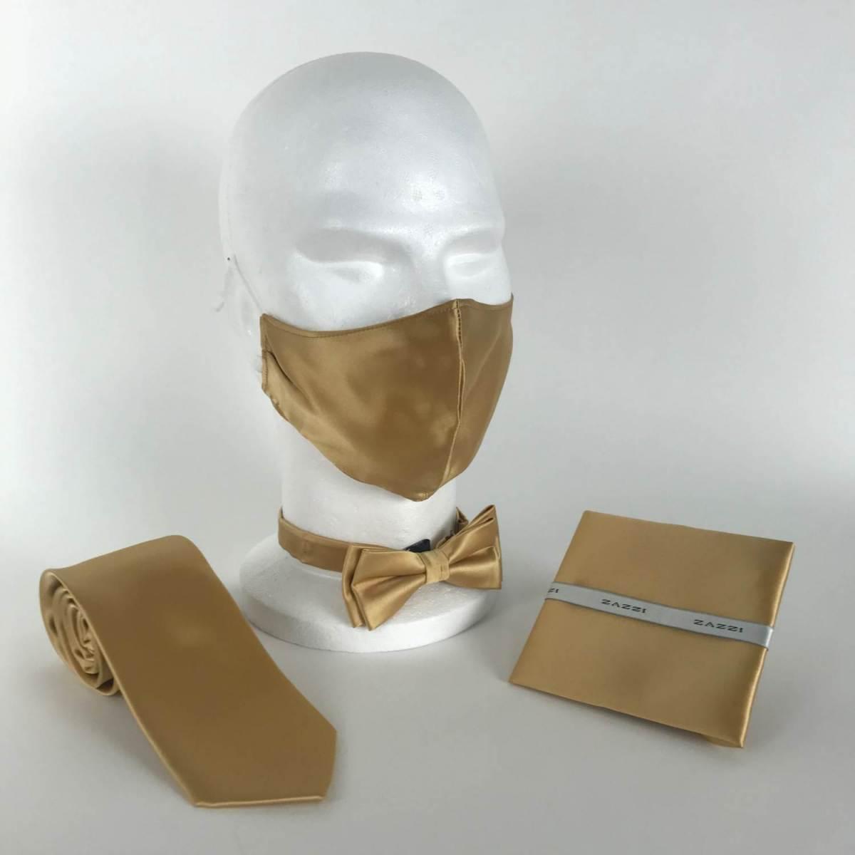 B1764 30 Gold FM. mens ties facemasks con murphys menswear cork scaled - - Con Murphys Menswear