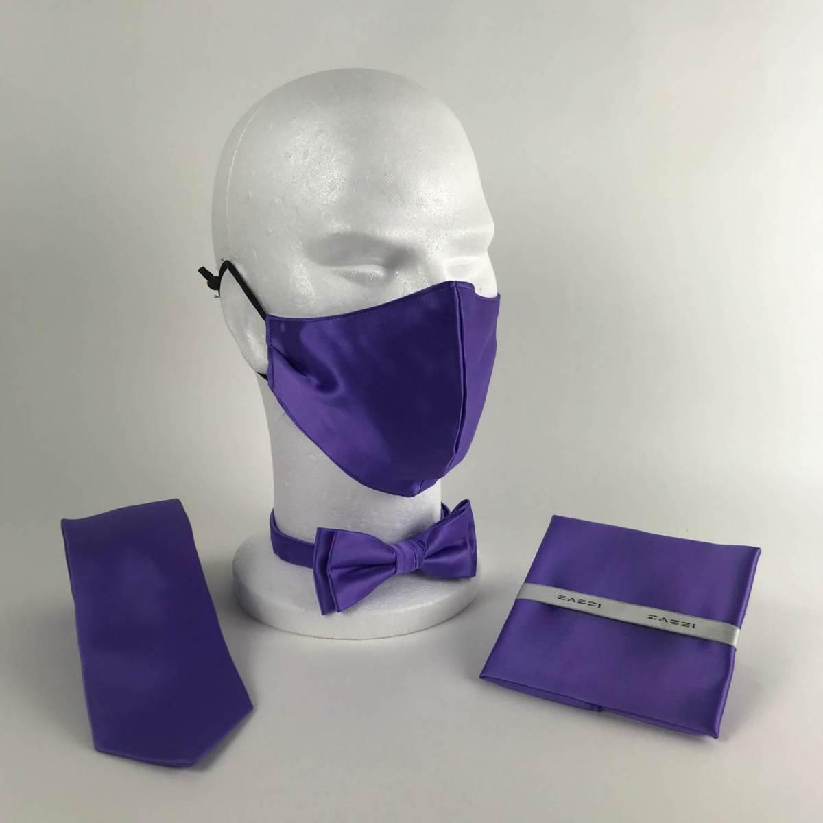 B1764 38 Cadbury Purple FM. mens ties facemasks con murphys menswear cork scaled - - Con Murphys Menswear