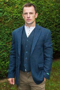 irish tweed jacket blue - - Con Murphys Menswear