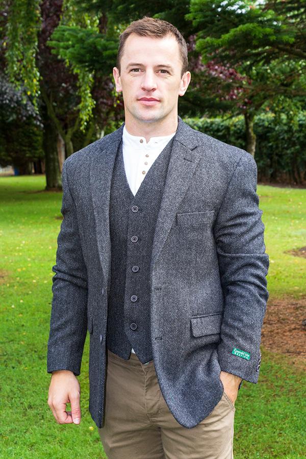 irish tweed jacket grey - - Con Murphys Menswear