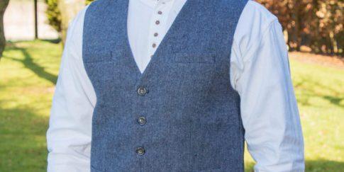 irish-tweed-waistcoat-blue