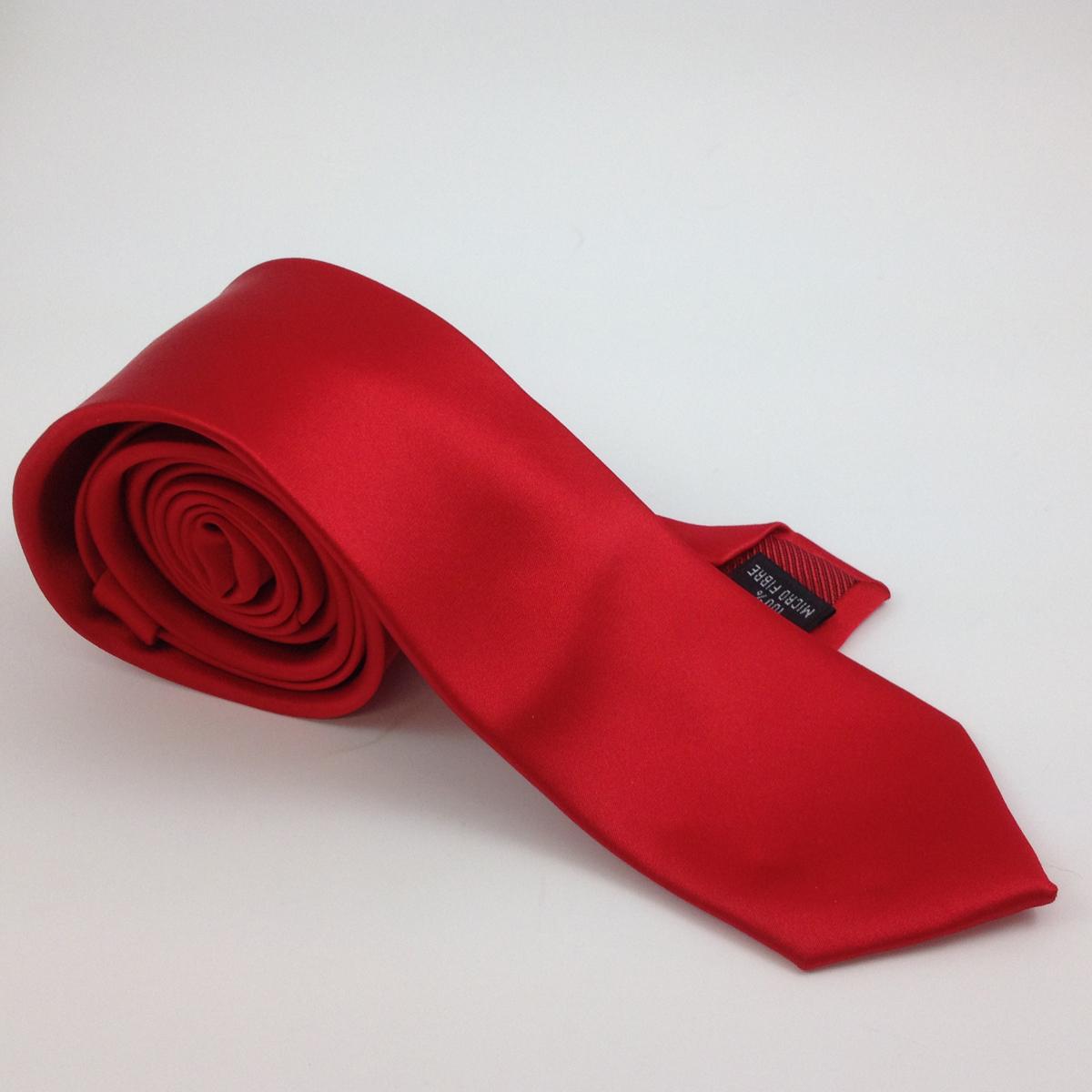 satin plain red q mens ties facemasks con murphys menswear cork - - Con Murphys Menswear