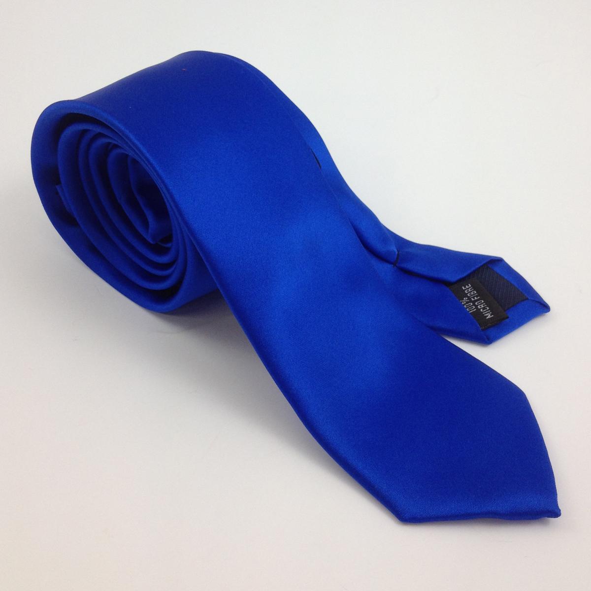 satin plain royal q mens ties facemasks con murphys menswear cork - - Con Murphys Menswear