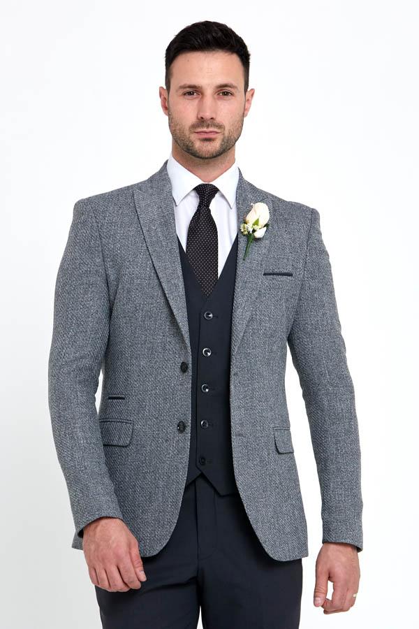 Benetti Simon Jkt Grey 096 - - Con Murphys Menswear